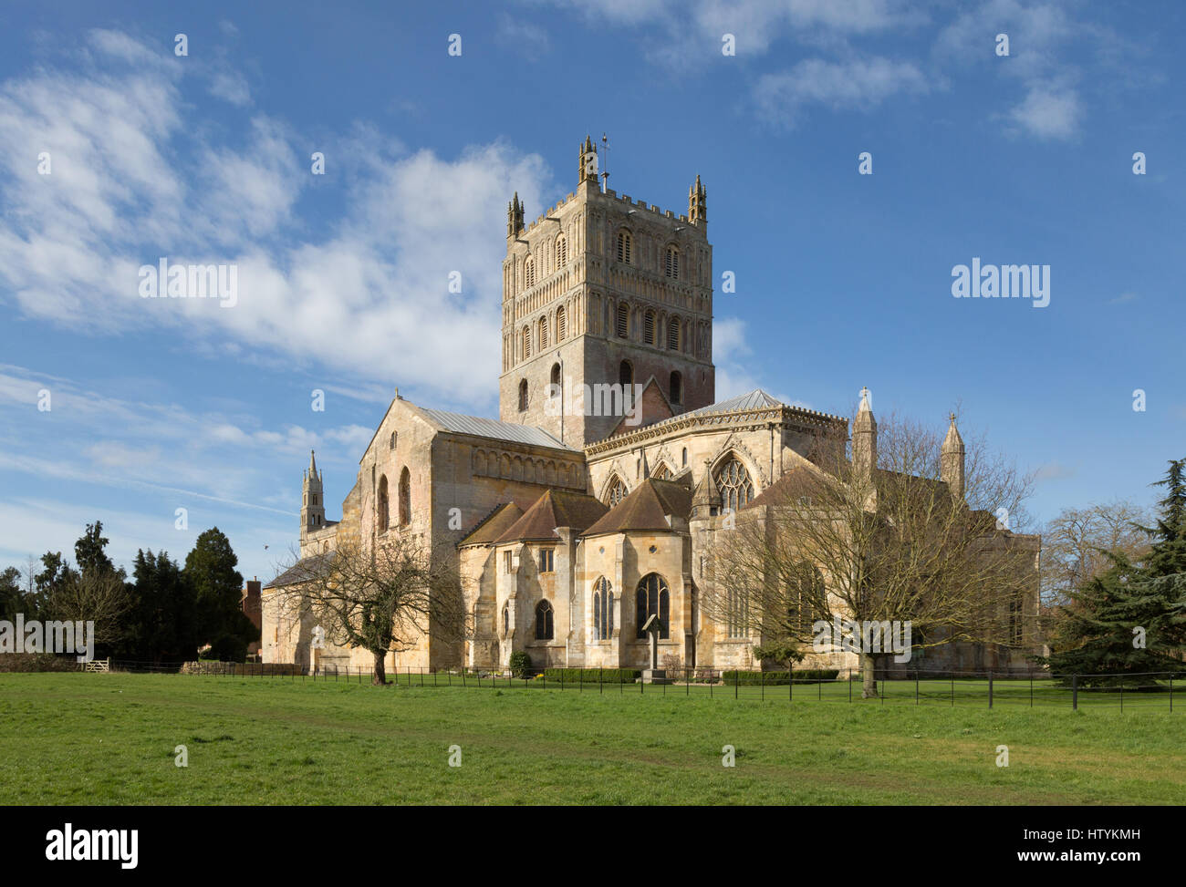 Tewkesbury Abbey, Gloucestershire UK - Stock Image