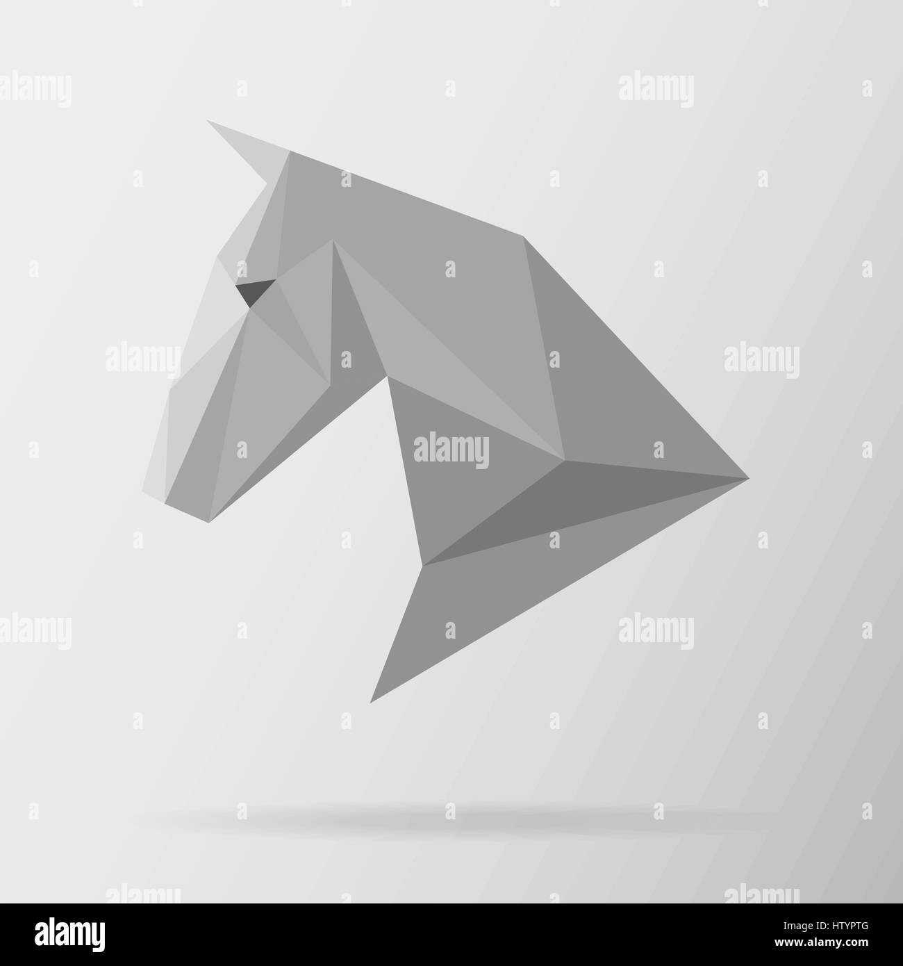 Horse Animal Low Poly Design Triangle Vector Illustration