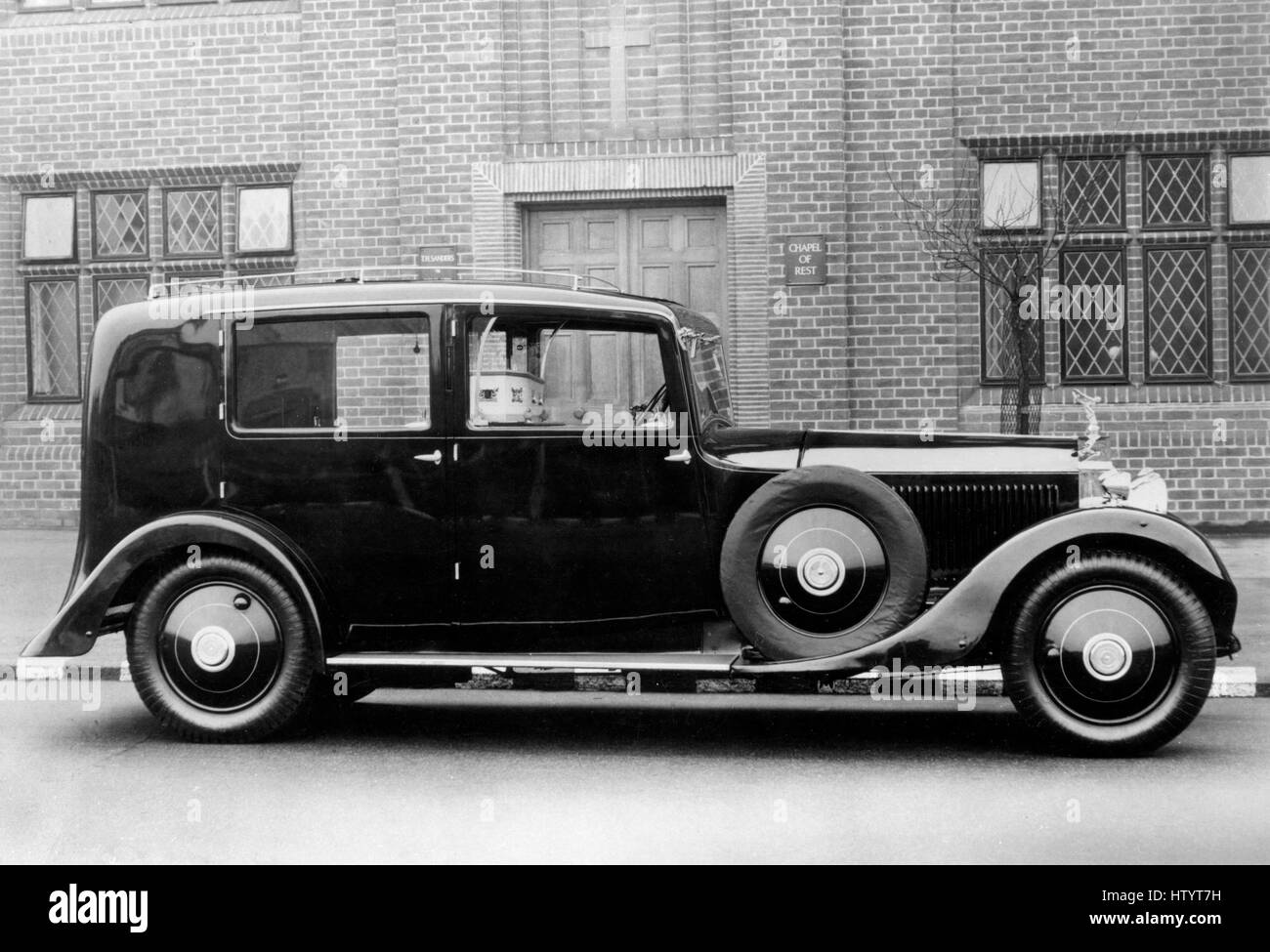 1932 Rolls Royce Phantom II hearse by J.C. Clark - Stock Image