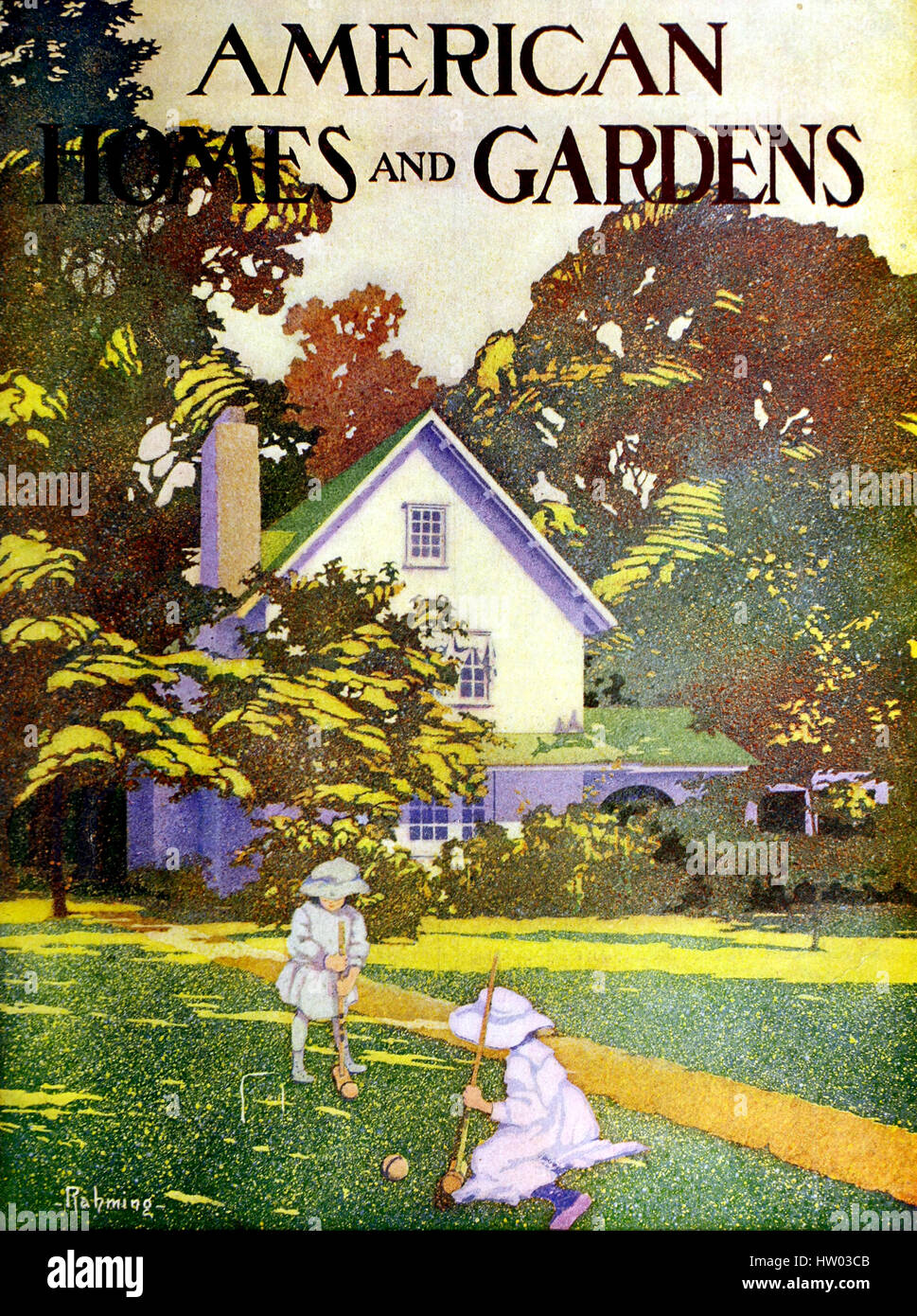 AMERICAN HOMES AND GARDENS monthly magazine. Cover of a  1910 edition - Stock Image