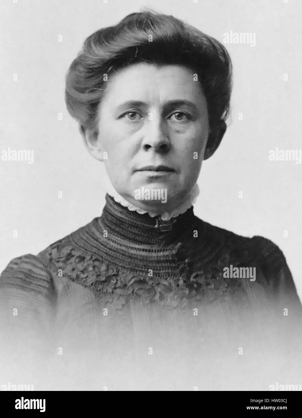 IDA TARBELL (1857-1944) American teacher and investigative journalist in 1904 - Stock Image