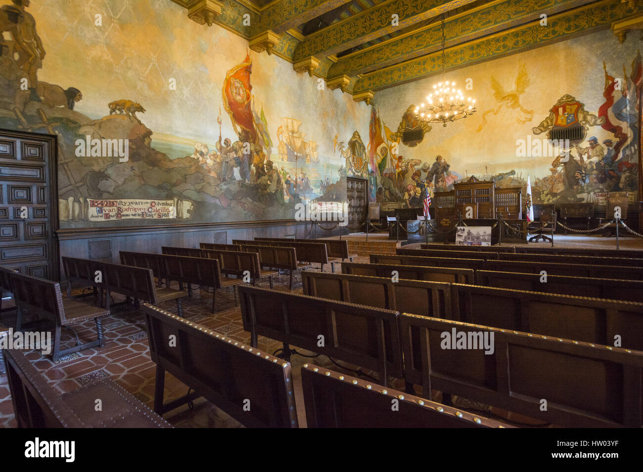 Mural Room Santa Barbara Courthouse