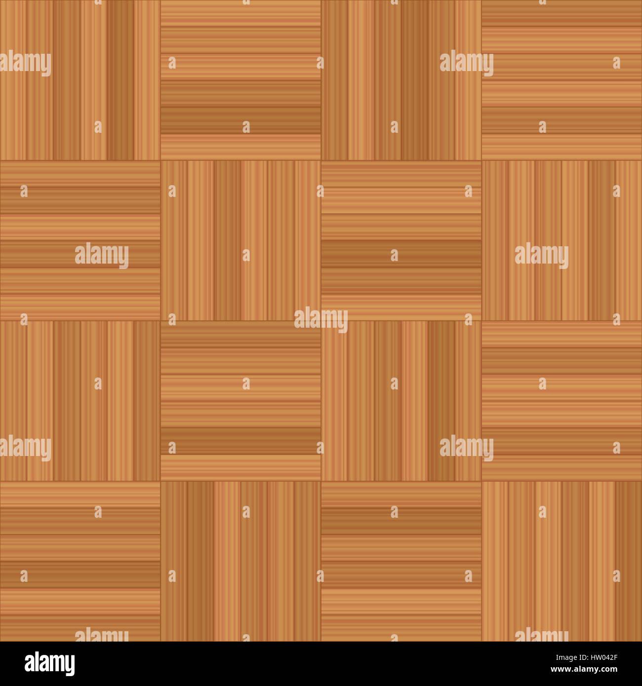Mosaic Parquet Illustration Of Square Wooden Floor Pattern Stock