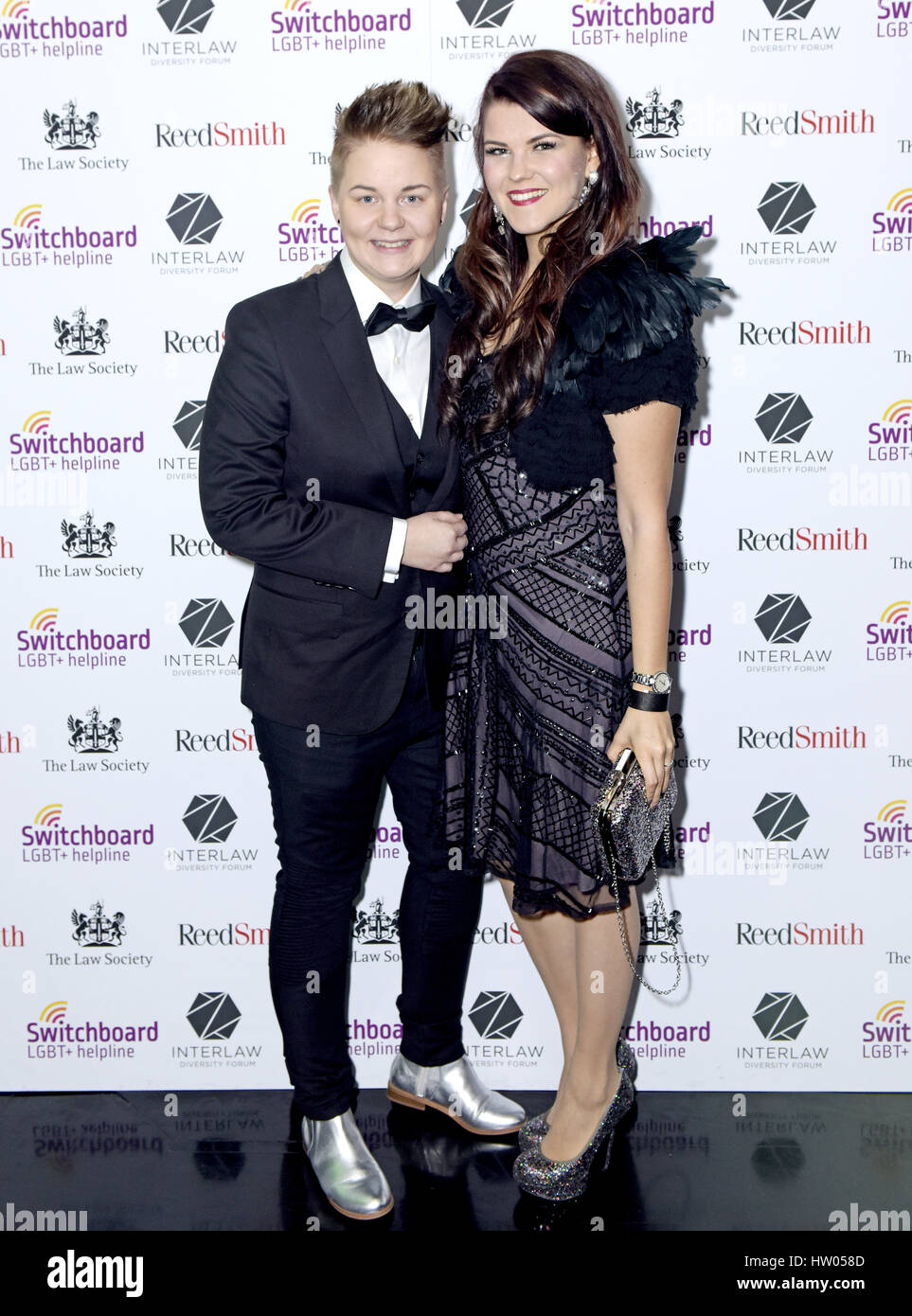 Meri Sopanen and Saara Aalto attending Winter Carnival, in aid of LGBT+ Switchboard, hosted by Tom Daley at The Stock Photo