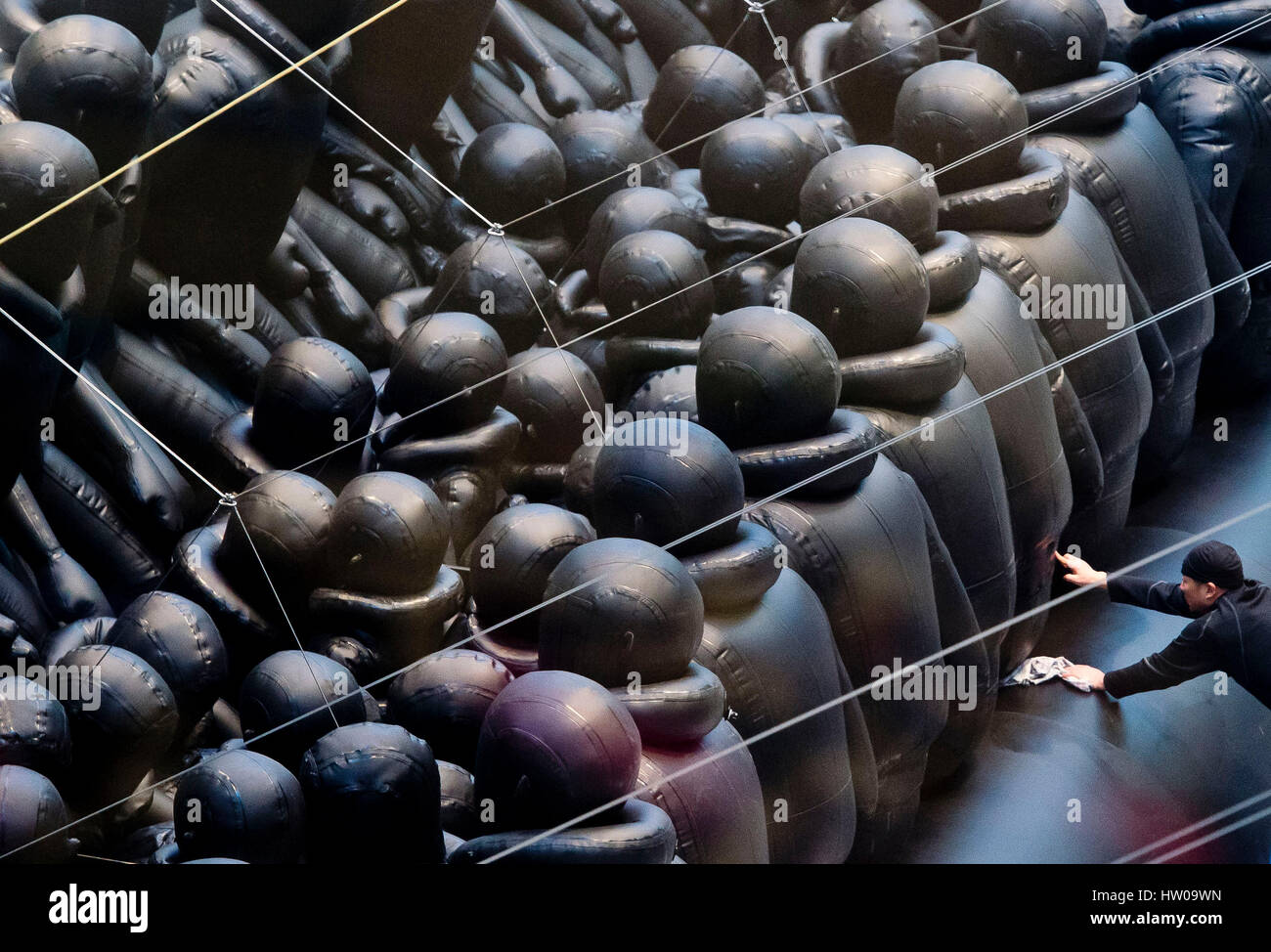 Prague, Czech Republic. 15th March 2017. Chinese conceptual artist and political activist Ai Weiwei, 59, has prepared - Stock Image