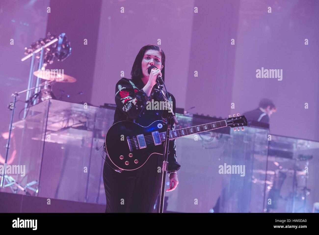 London, UK. March 15, 2017 - Romy Madley Croft, of the British band ...