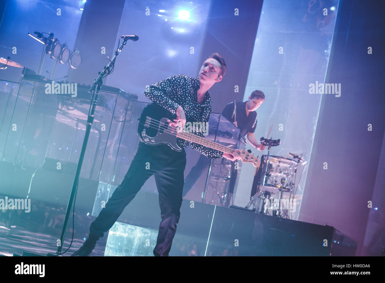London, UK. March 15, 2017 - Oliver Sim, of the British band The XX ...
