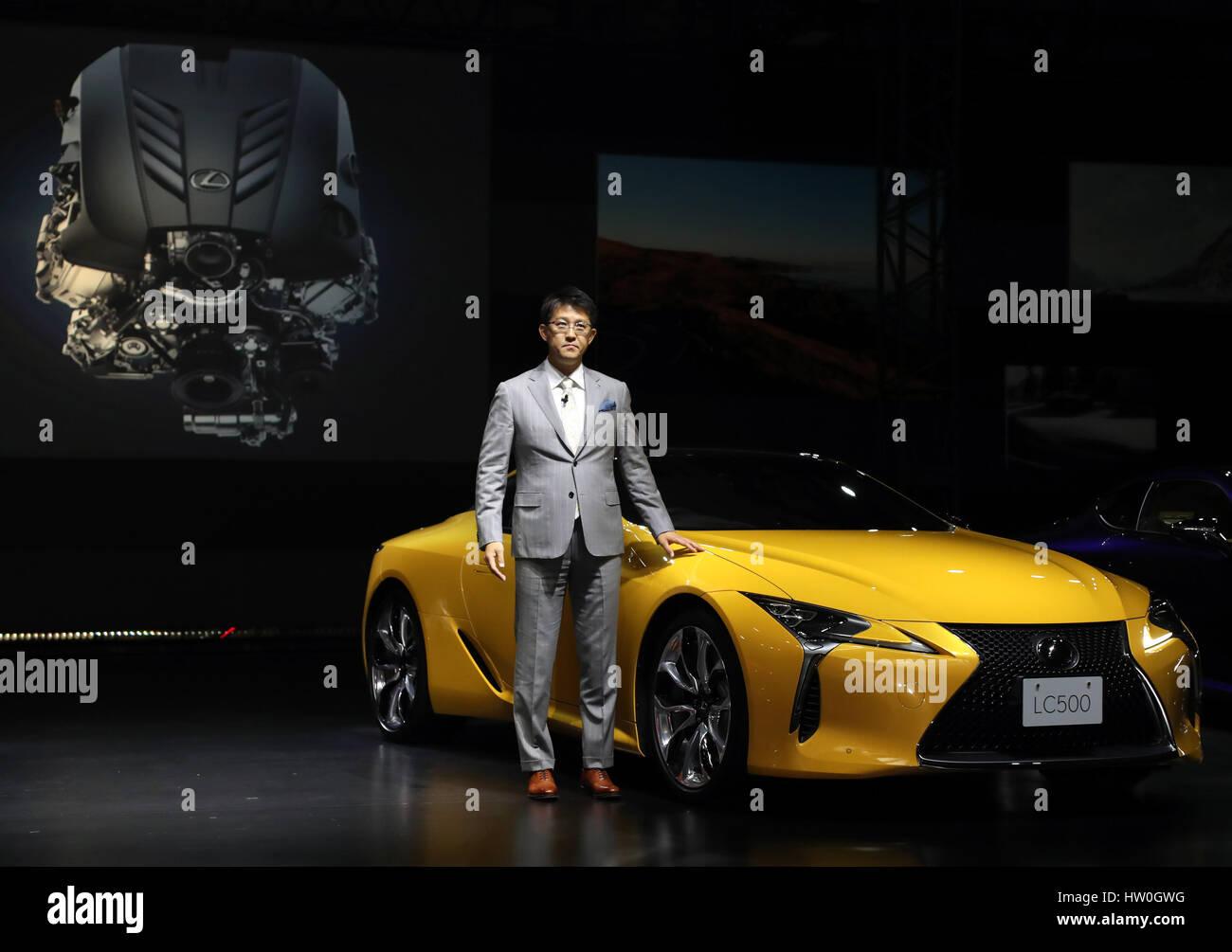 Tokyo Japan 16th Mar 2017 Toyota Motor S Luxury Car Brand Lexus
