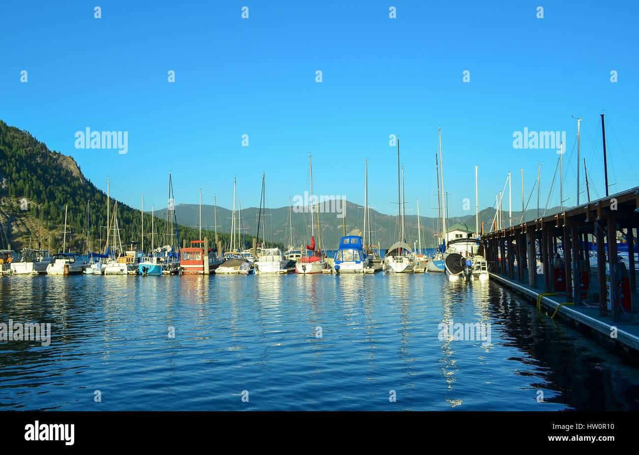 Lake Pend O'Reille, Idaho (Bayview Marina) - Stock Image