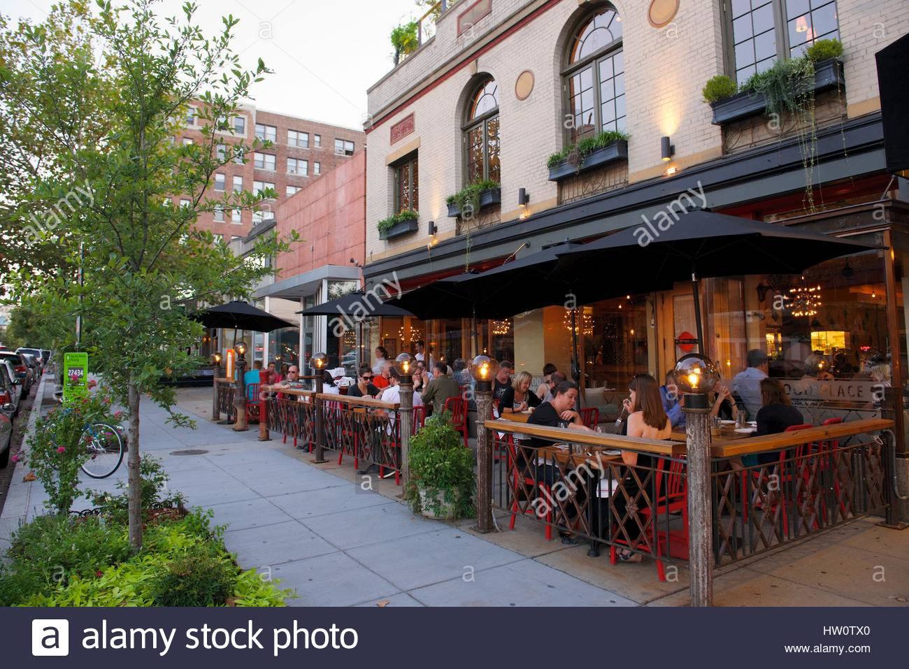 Sidewalk Scene At Mintwood Place Restaurant In The Adams
