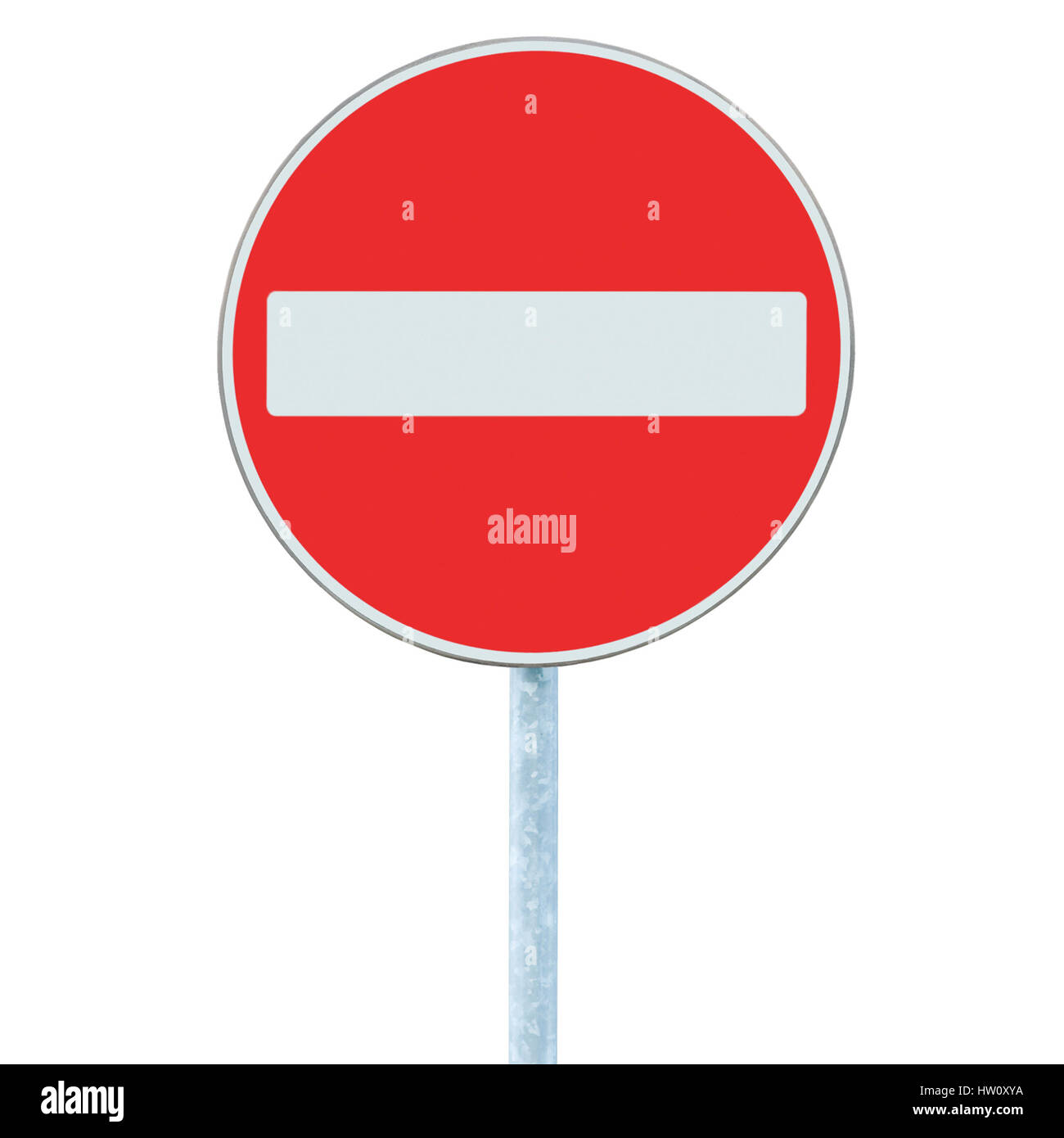 no entry road sign traffic warning roadside signpost on pole post