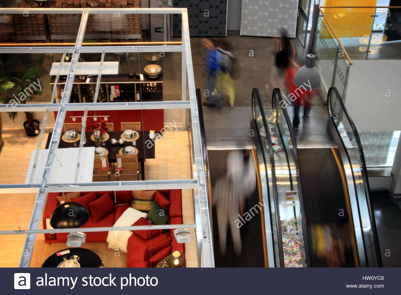 Inside The Swedish Furniture Store Ikea In Beijing Stock Photo