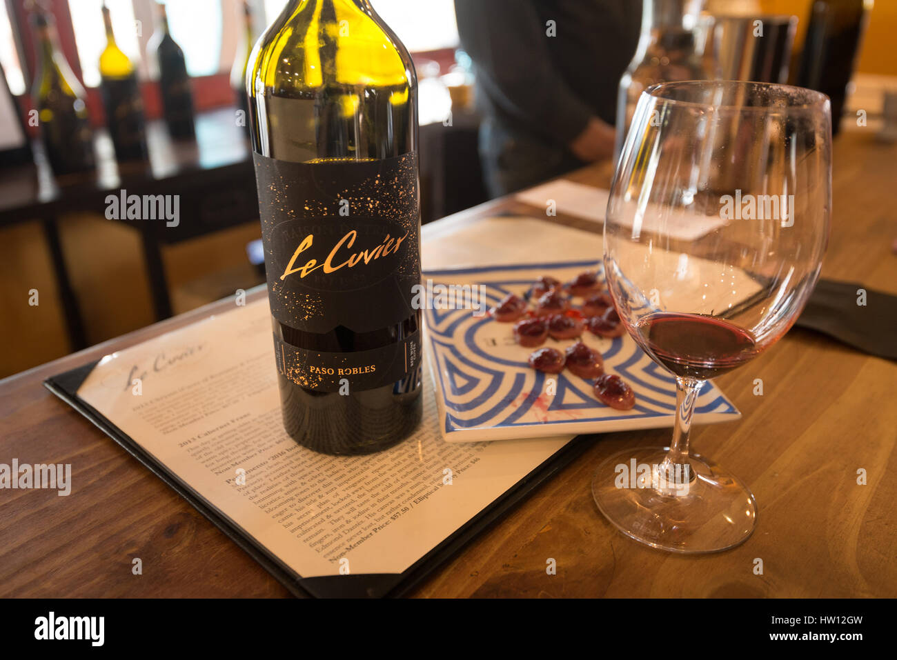 Le Cuvier Winery located in Paso Robles, California known for it's spacious tasting room for wine tasting. - Stock Image