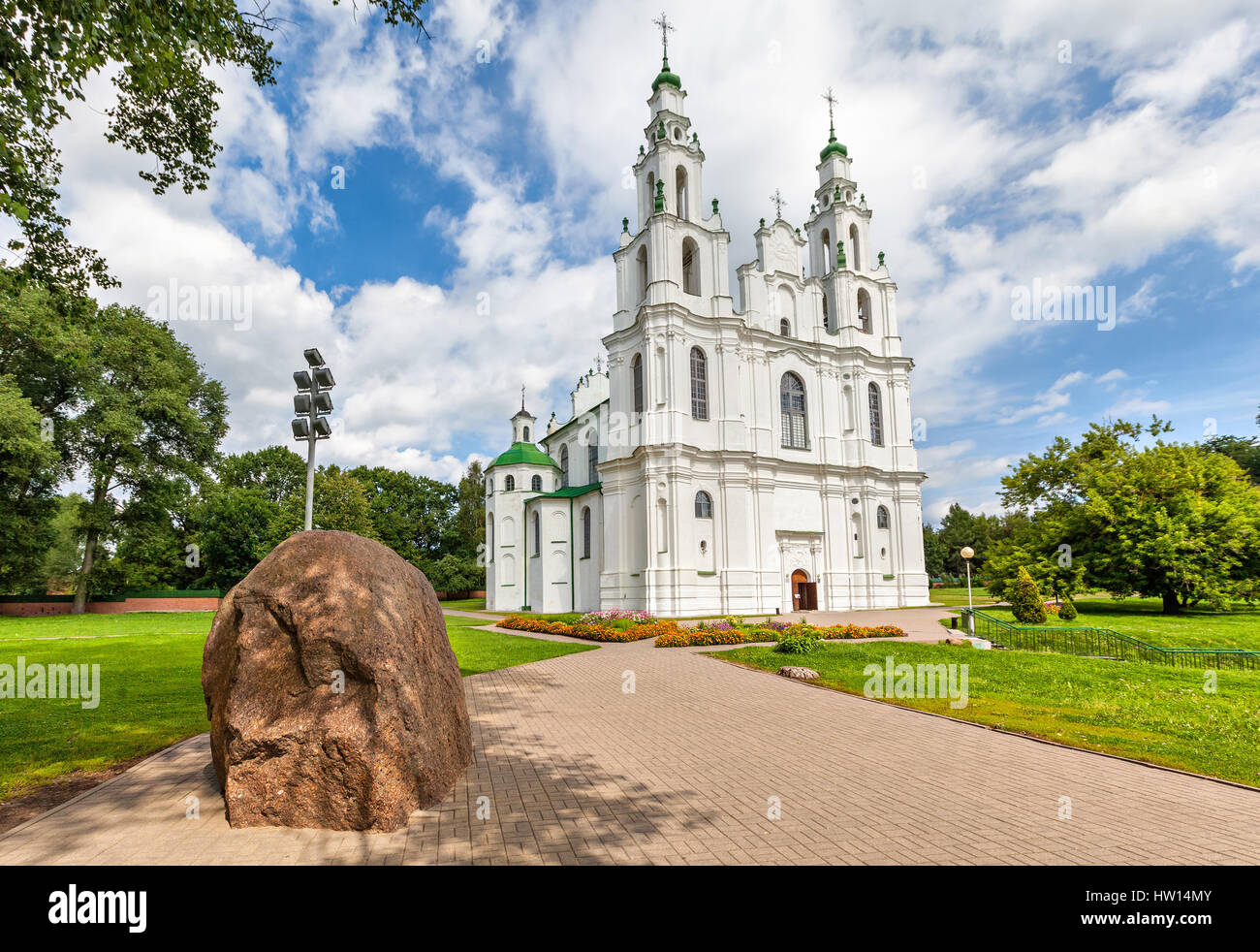 Saint Sophia Cathedral in Polatsk, Belarus - Stock Image