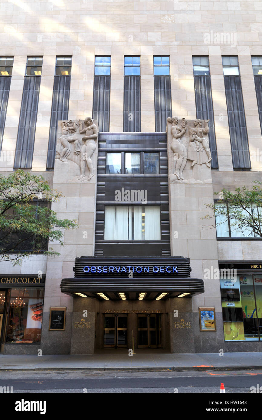 Usa New York New York City Manhattan Rockefeller Center Nbc Stock Photo Alamy