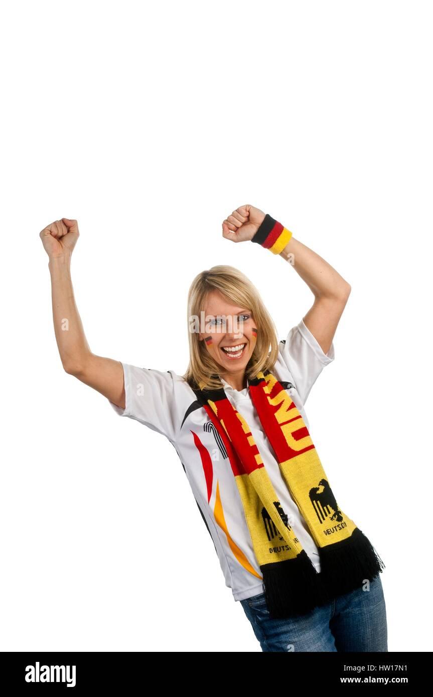 Football fan for Germany, Fußballfan für Deutschland - Stock Image
