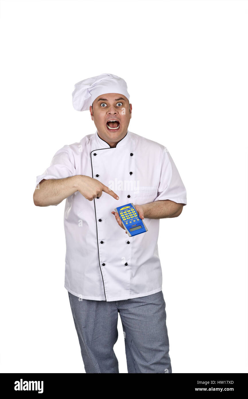 Cook at the work, Koch bei der Arbeit - Stock Image