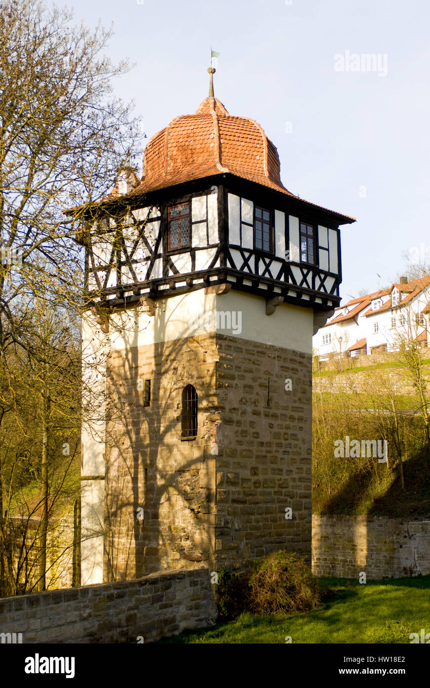Tower in the cloister of Maulbronn, Turm im Kloster Maulbronn Stock Photo