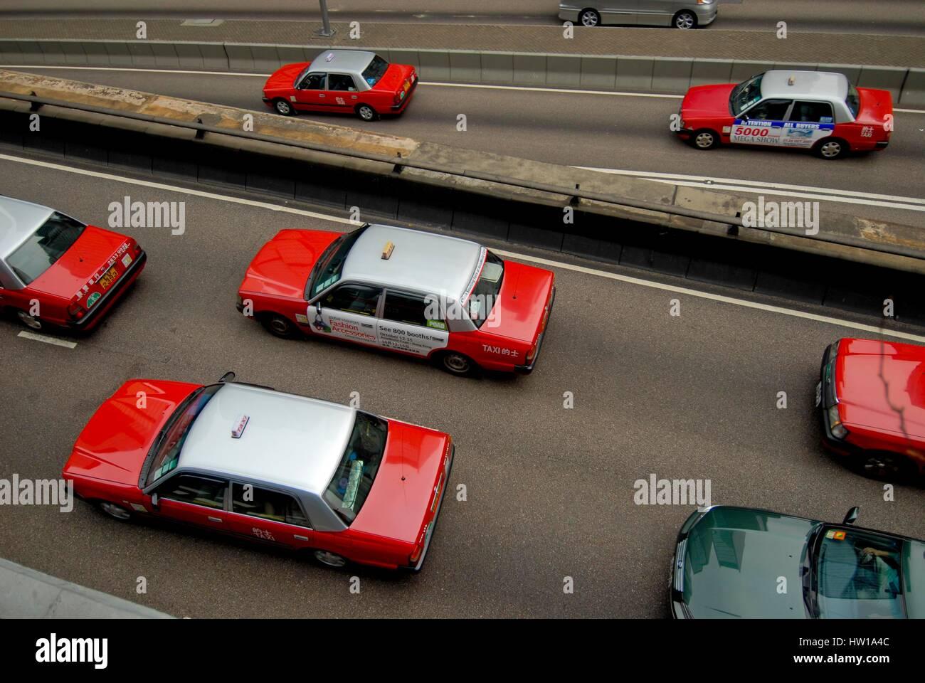 China - Hong Kong - taxi, China - Hong Kong  -  Taxi Stock Photo