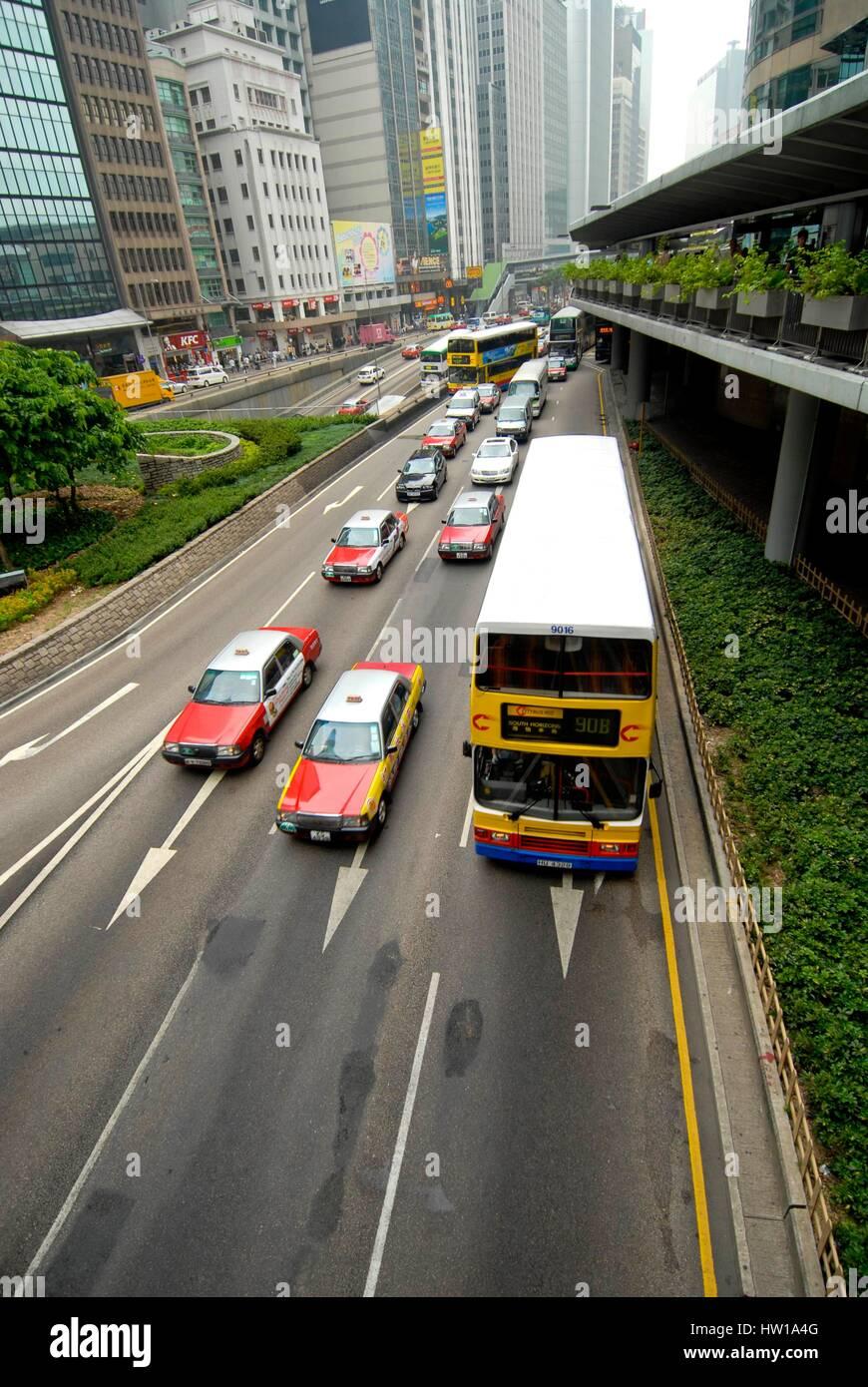 China - Hong Kong - Connaught Road Central, China - Hong Kong  -  Connaught Road Central Stock Photo