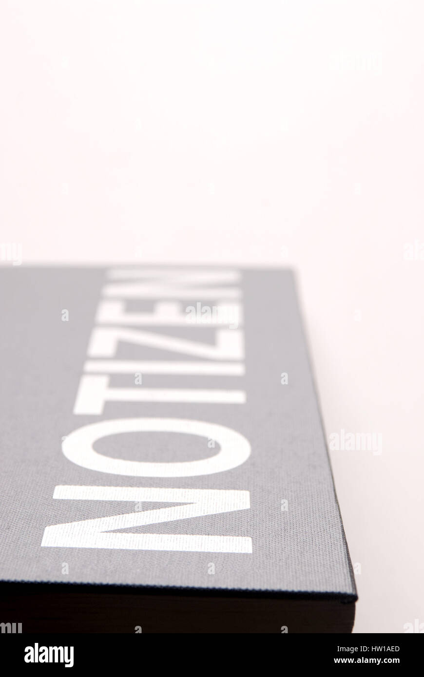 Notebook, Notizbuch Stock Photo