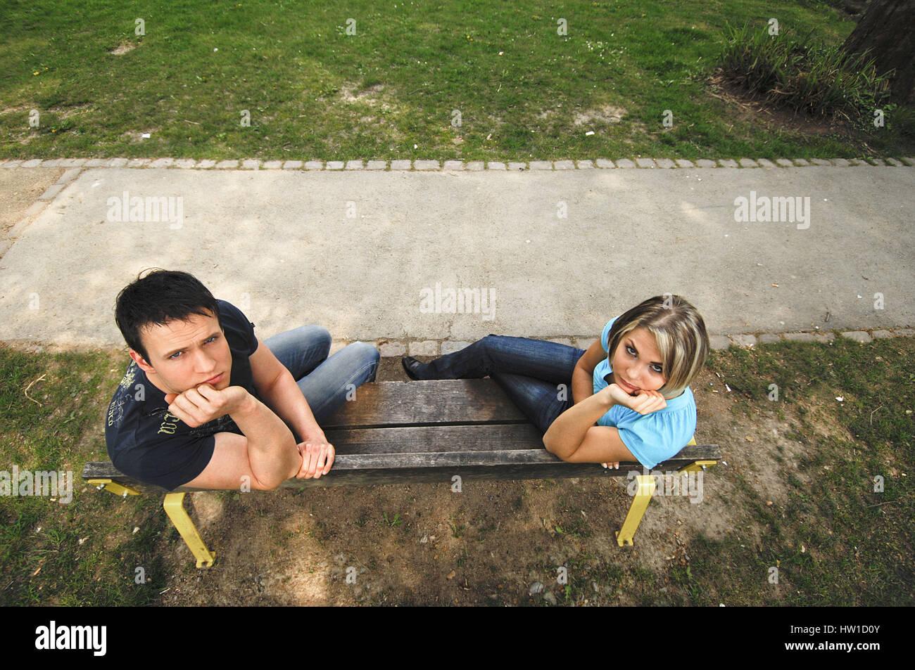 Pair in the quarrel, Paar im Streit Stock Photo