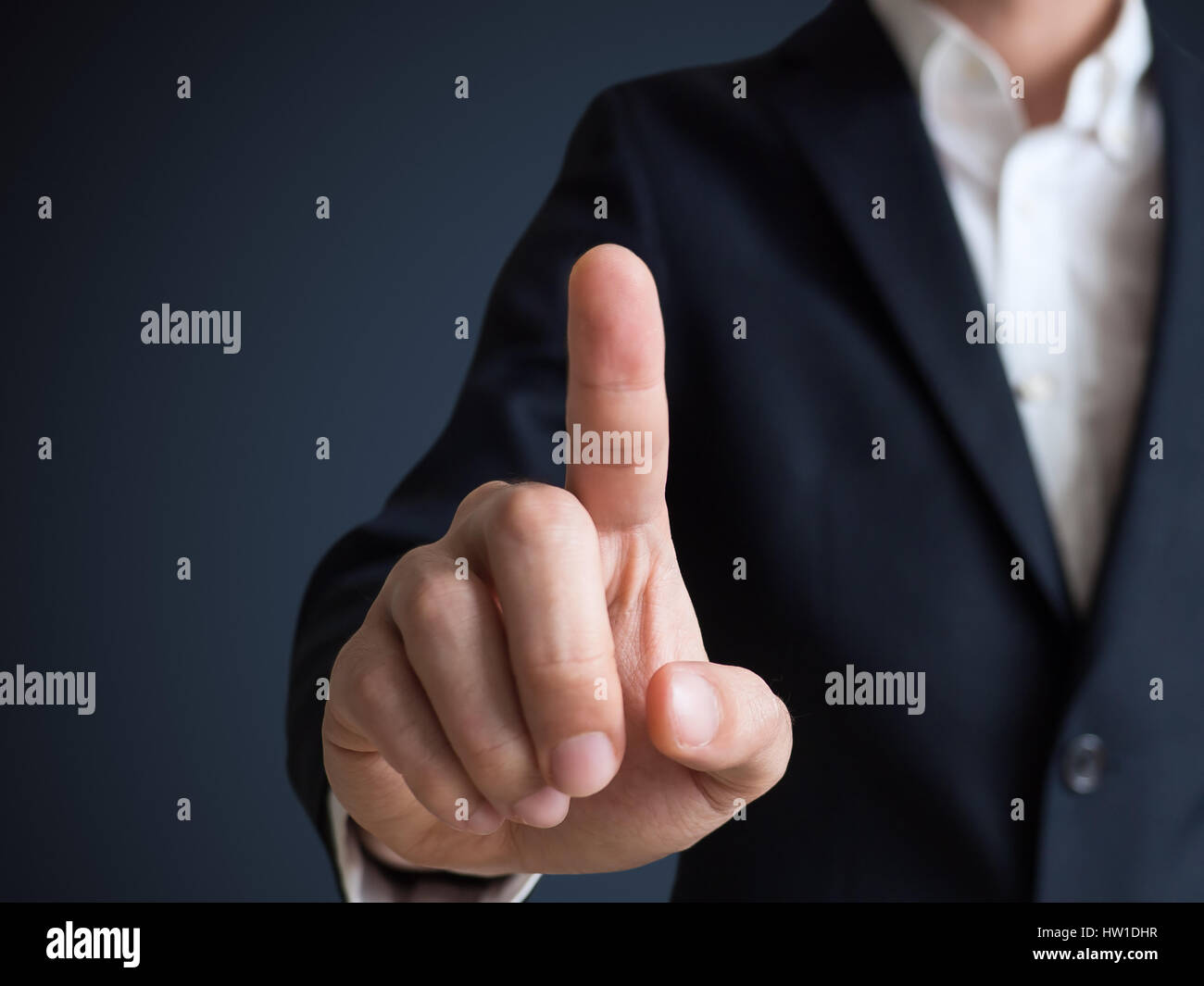 businessman touching and select concept Stock Photo