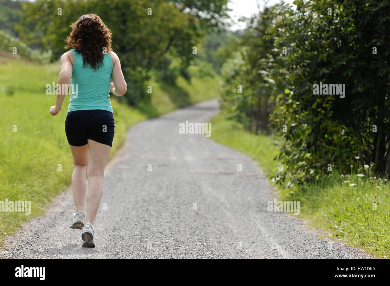 Runner                                , Läuferin - Stock Image