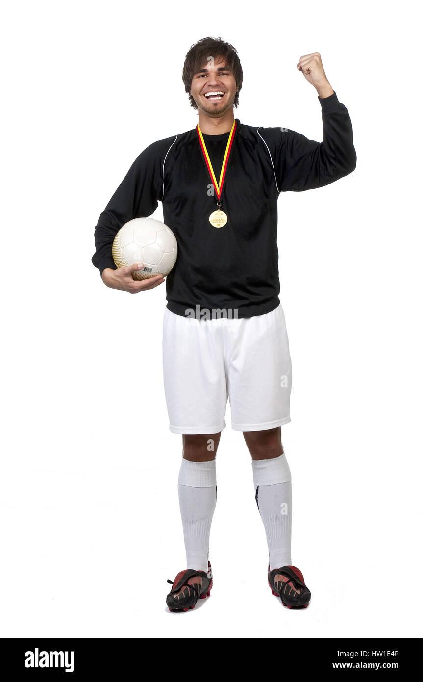 Footballer, Fußballer - Stock Image