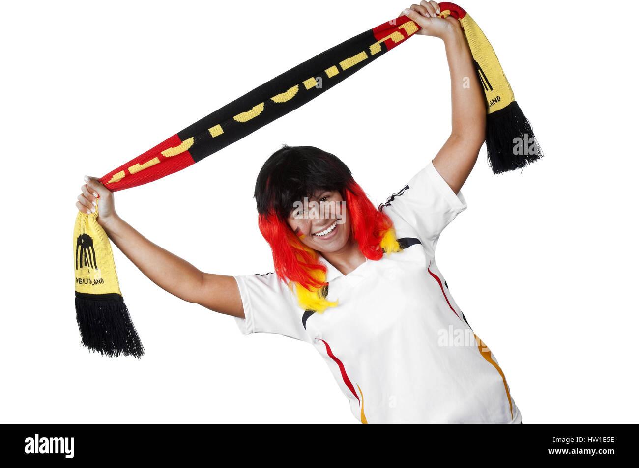 Germany fan, Deutschland Fan   Deutschland Fan - Stock Image