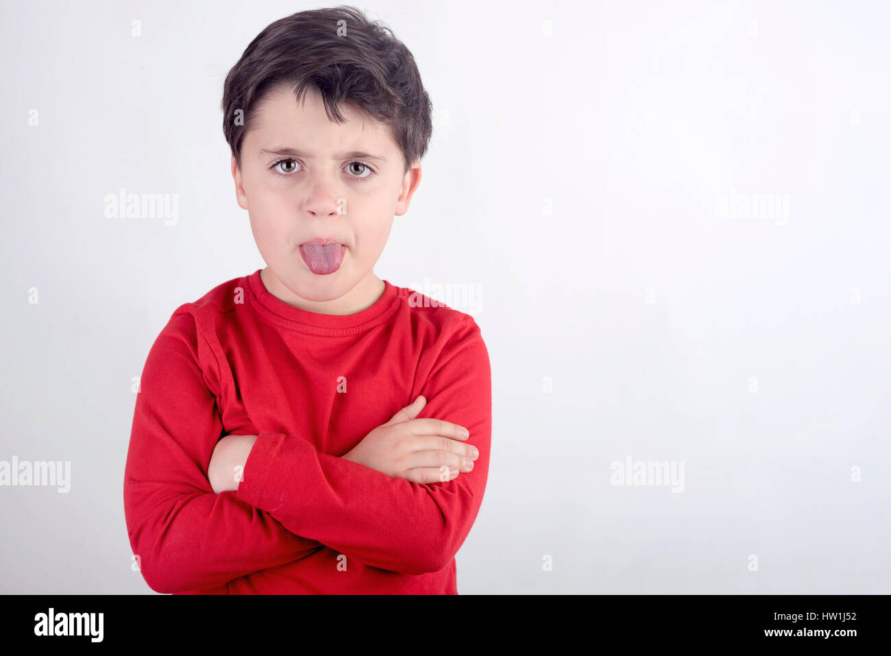 Rude child - Stock Image