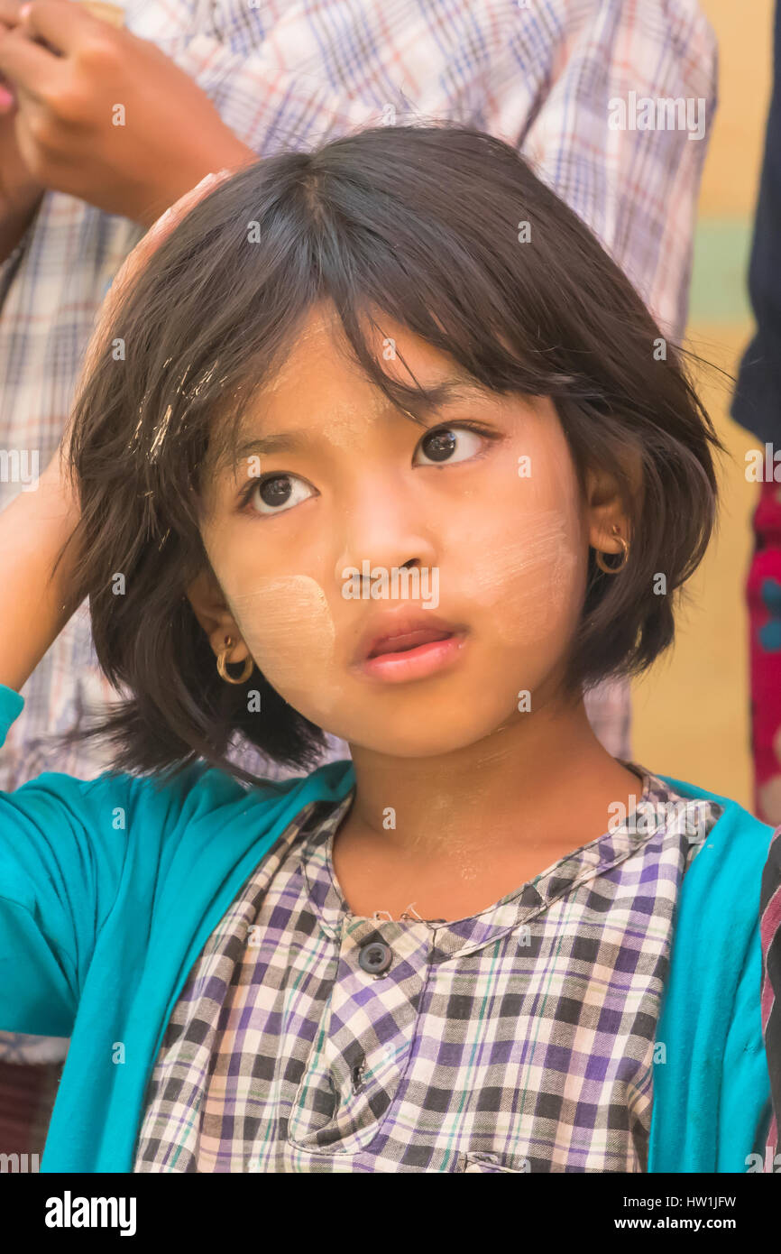 School Child in Yandabo, Myanmar - Stock Image