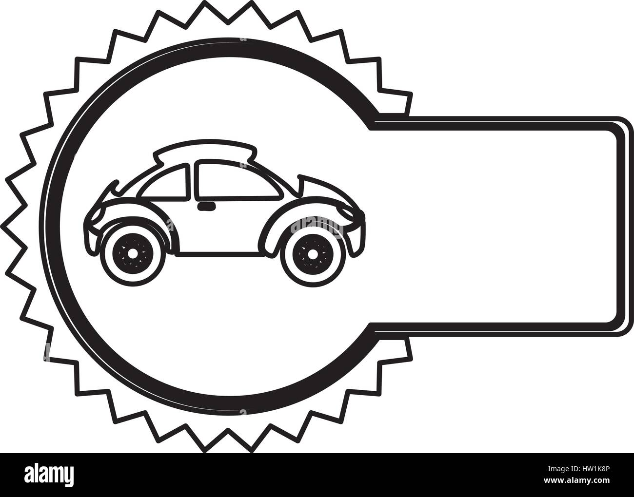 Emblem Sport Car Side Icon Stock Vector Art Illustration Vector