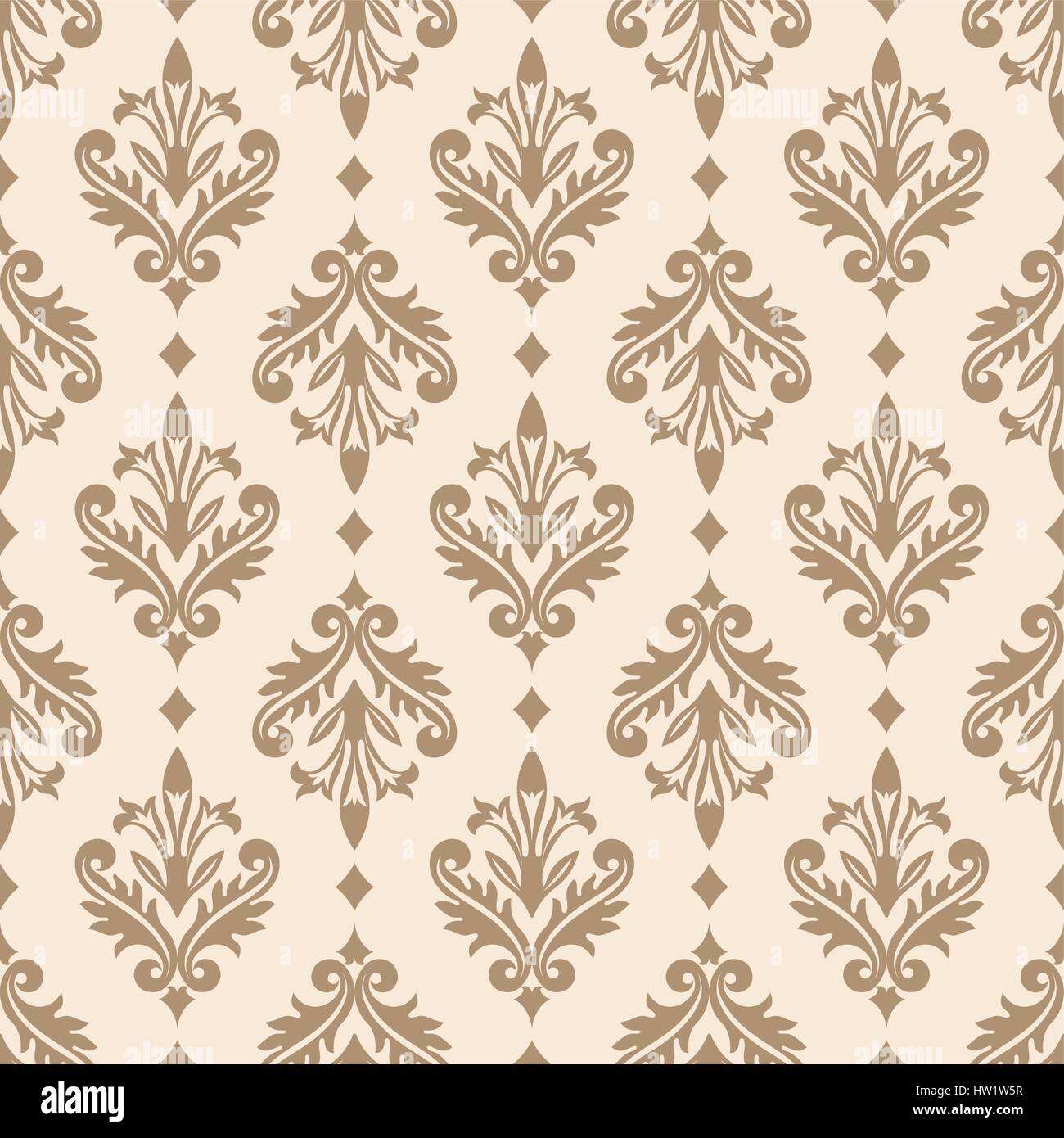 Vector seamless pattern. Luxury elegant texture of baroque style. Pattern can be used as a background, wallpaper, - Stock Image
