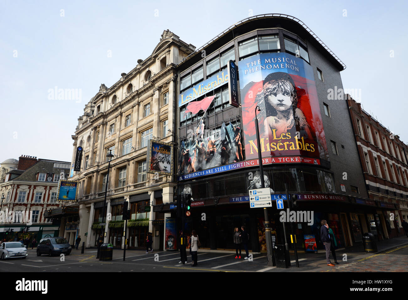 Les Miserables playing at the Queen's Theatre in London. Space for copy - Stock Image
