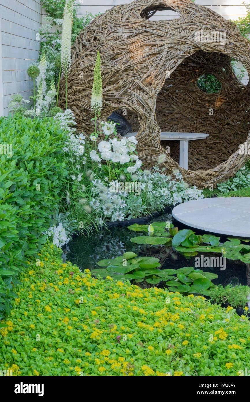 Living Landscapes City Twitchers Garden Stock Photos