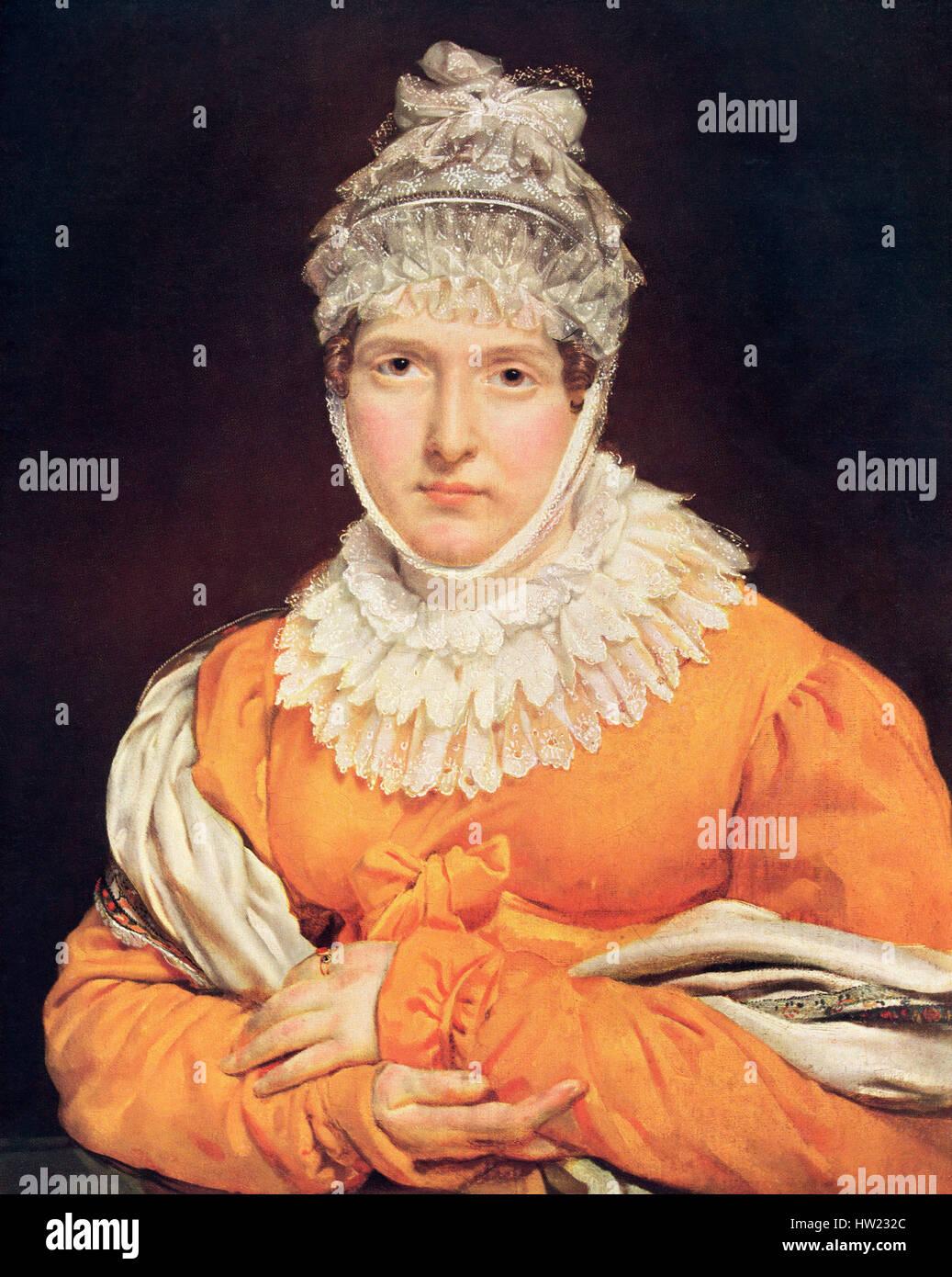Portrait of Jeanne-Françoise Julie Adélaïde Récamier, 1777 – 1849, aka Madame Récamier - Stock Image