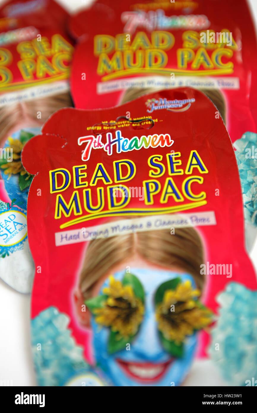 Facial mud masks - Stock Image