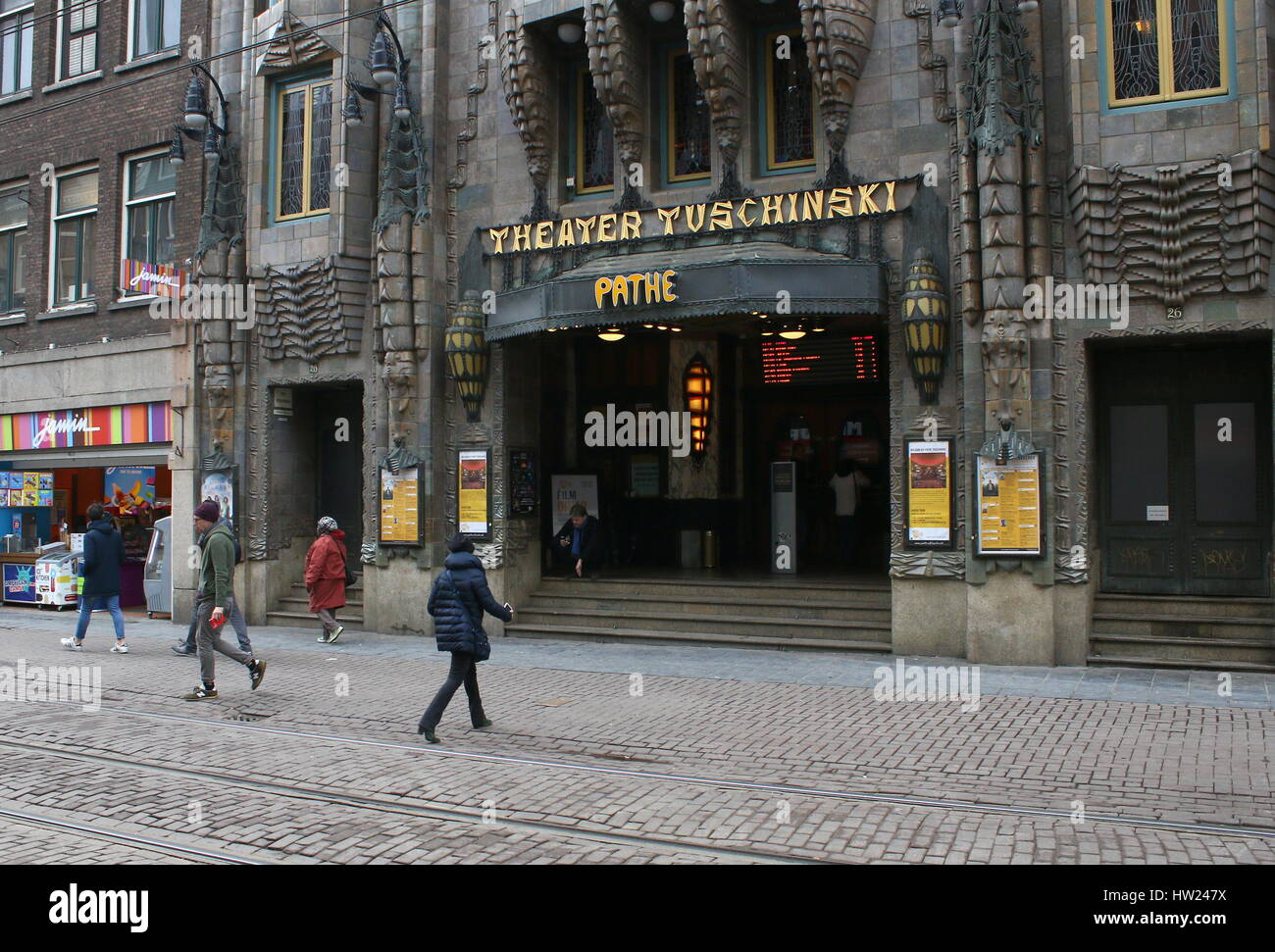 Cinema Pathé Tuschinski, an Art Nouveau film theater in Amsterdam, Netherlands. - Stock Image
