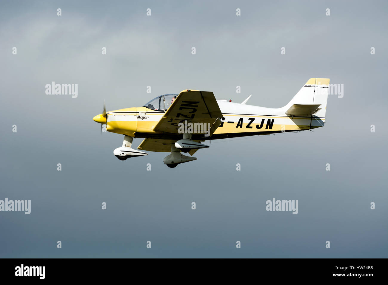 Robin DR300-140 at Staverton airfield, Gloucestershire, UK (G-AZJN) - Stock Image