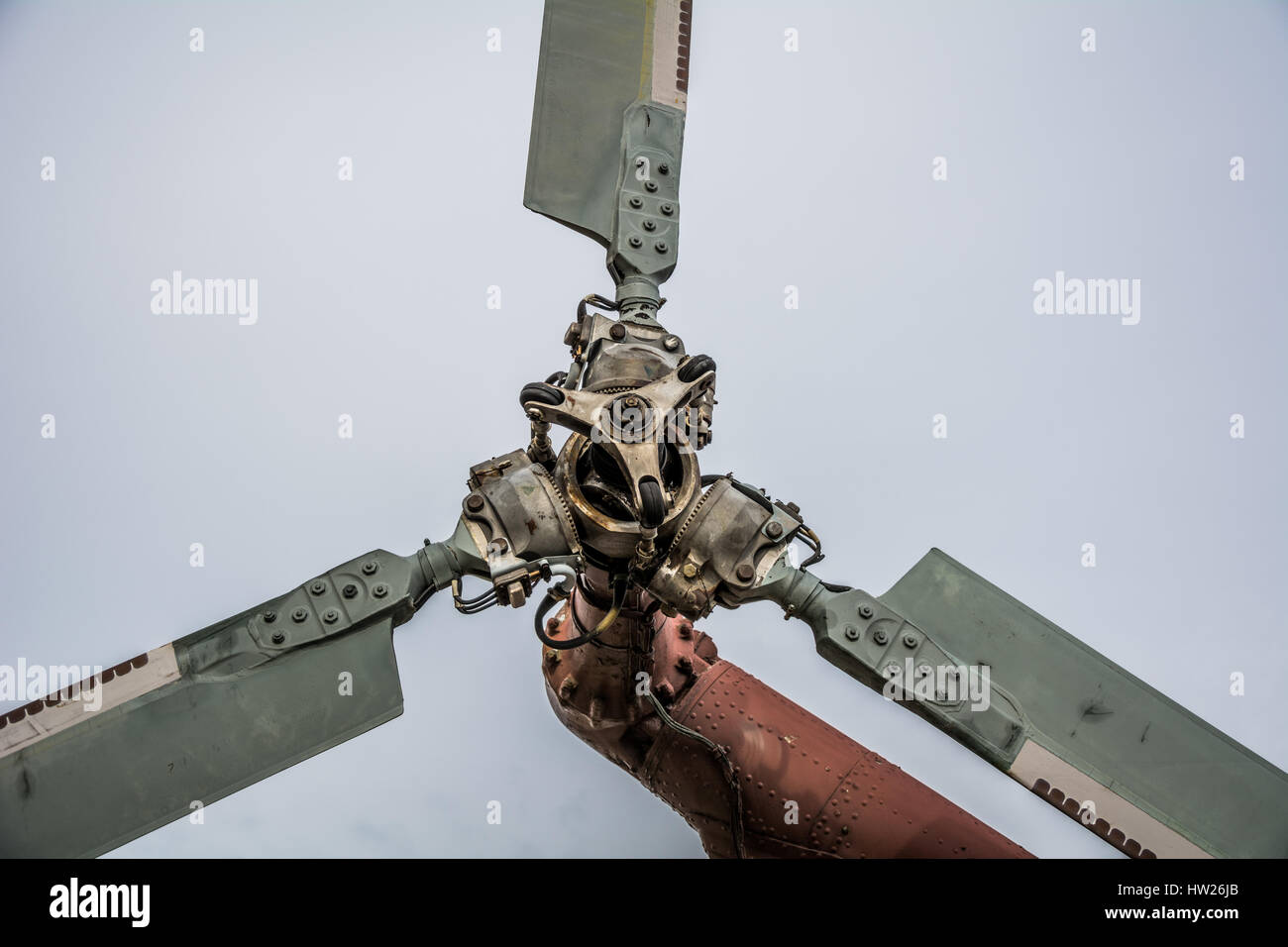 Propeller of old helicopter - Stock Image