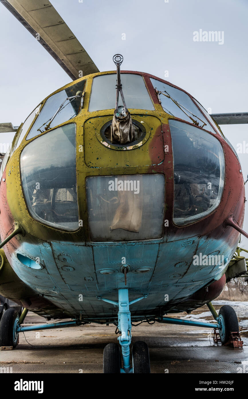 Old helicopter - Stock Image