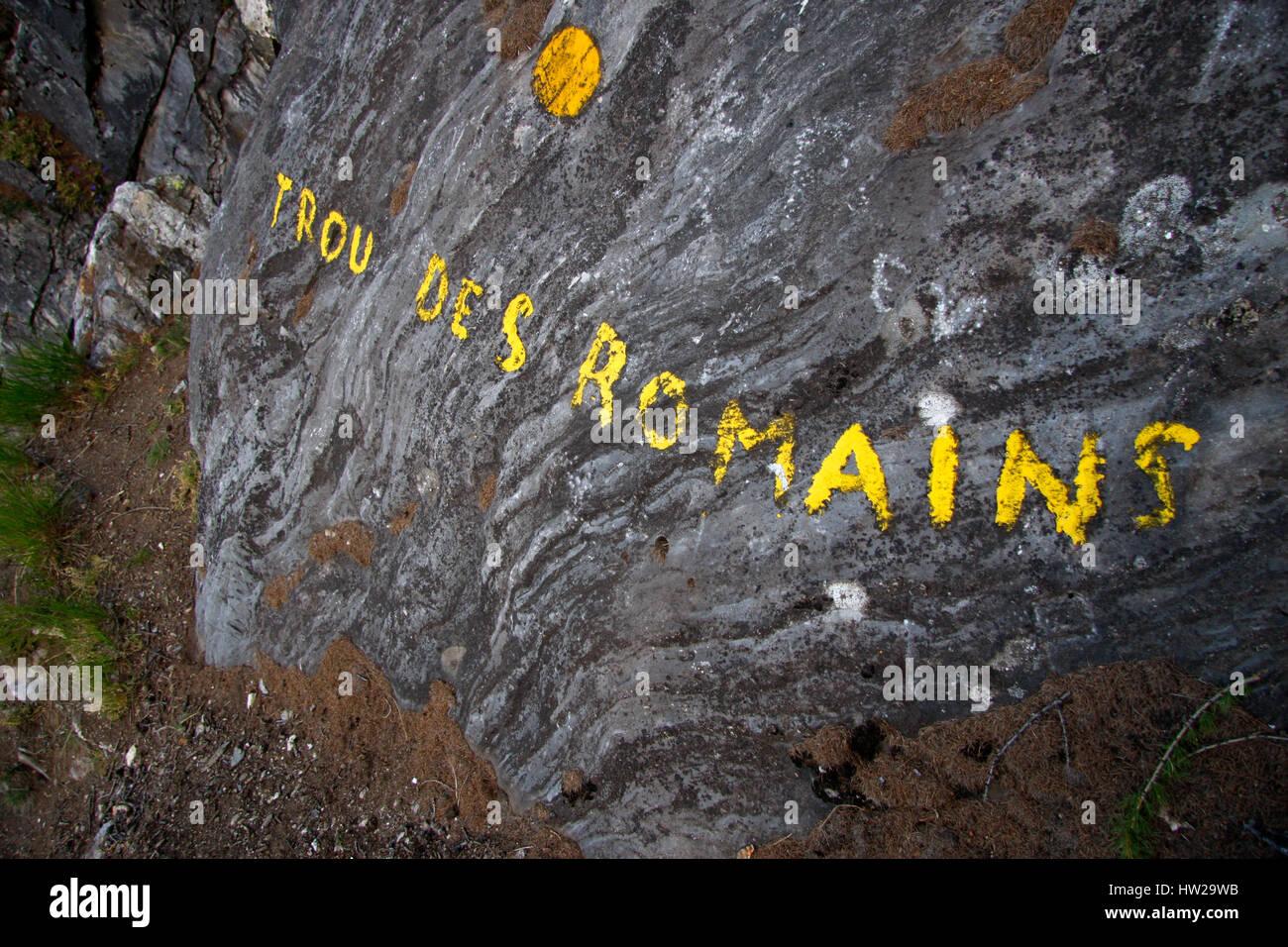 Impressionen: Trou des Romains, Val Veny, Val Ferret, Italien. - Stock Image