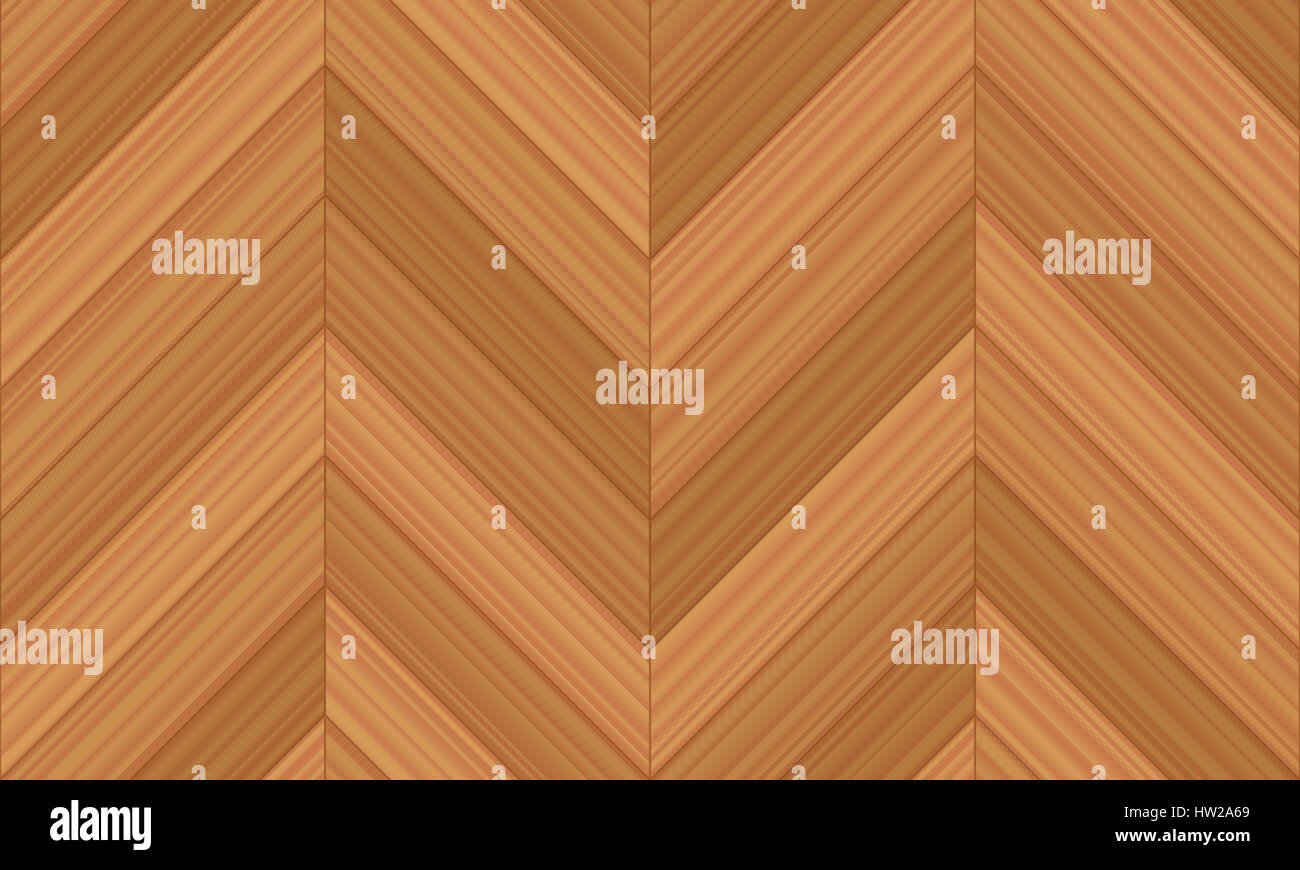Chevron parquet - illustration of herringbone pattern version with straight line edges - seamless extensible in - Stock Image
