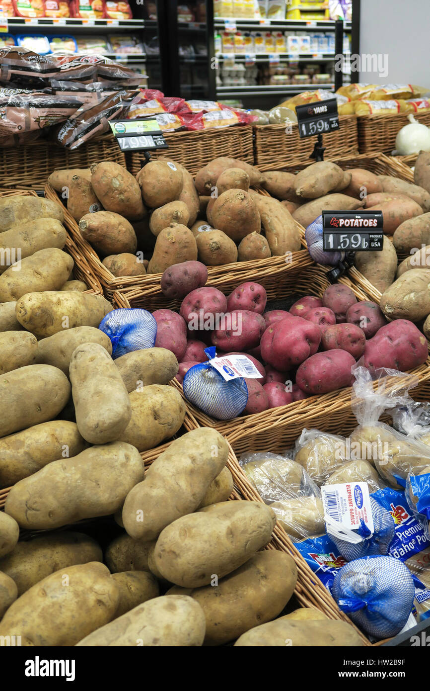 Potatoes in Freshh Produce Section, D'Agostino Grocery Store