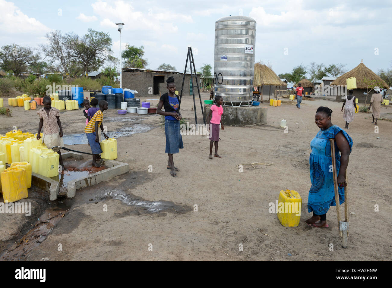 UGANDA, Arua, south sudanese refugees in Rhino camp refugee settlement / suedsudanesische Fluechtlinge im Fluechtlingslager - Stock Image