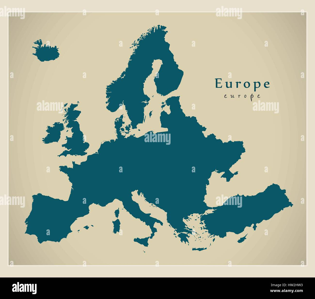 Modern Map   Europe Complete