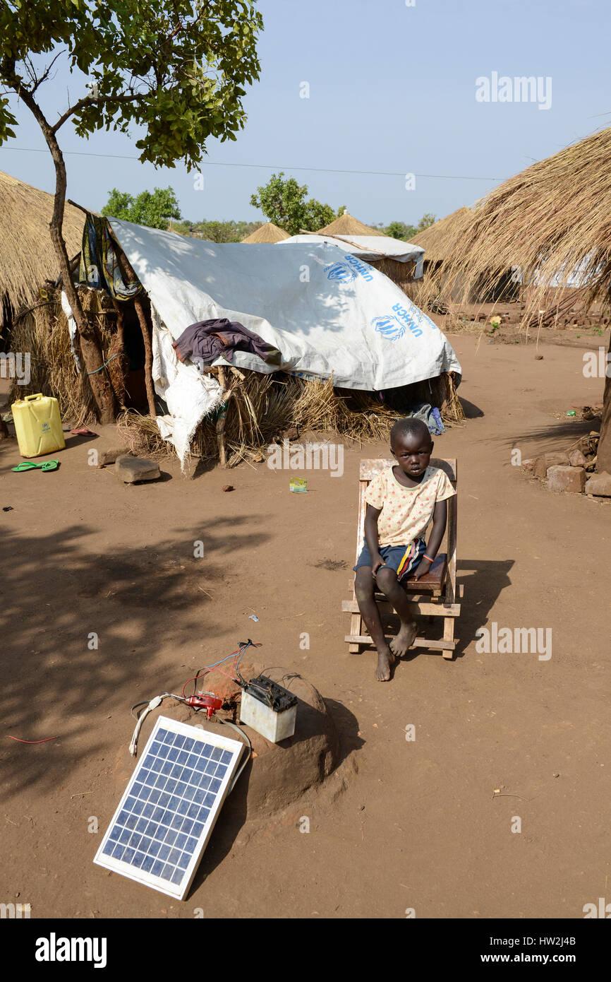 UGANDA, Arua, Yumbe, south sudanese refugees in Bidi Bidi refugee settlement / suedsudanesische Fluechtlinge im - Stock Image