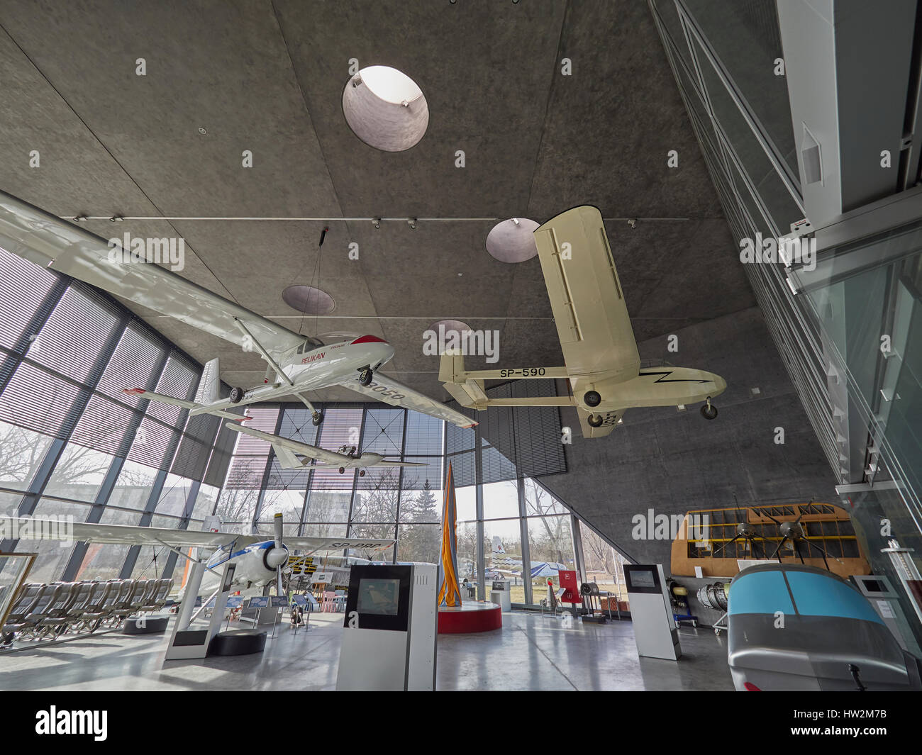 Polish Aviation Museum Krakow in Poland - Stock Image