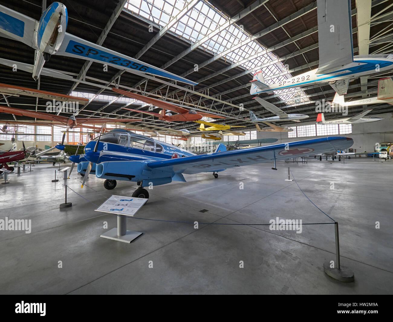 Aero Ae-45 at the Polish Aviation Museum Krakow in Poland - Stock Image